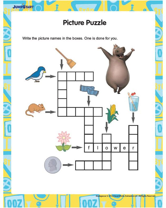 Picture Puzzle - Free English Worksheet For Kids Printable Crossword  Puzzles, Free Printable Crossword Puzzles, Printable Puzzles For Kids