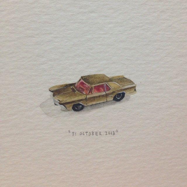 Day 303 : Vir Karretjies. 28 x 10 mm. #365paintingsforants #miniature…