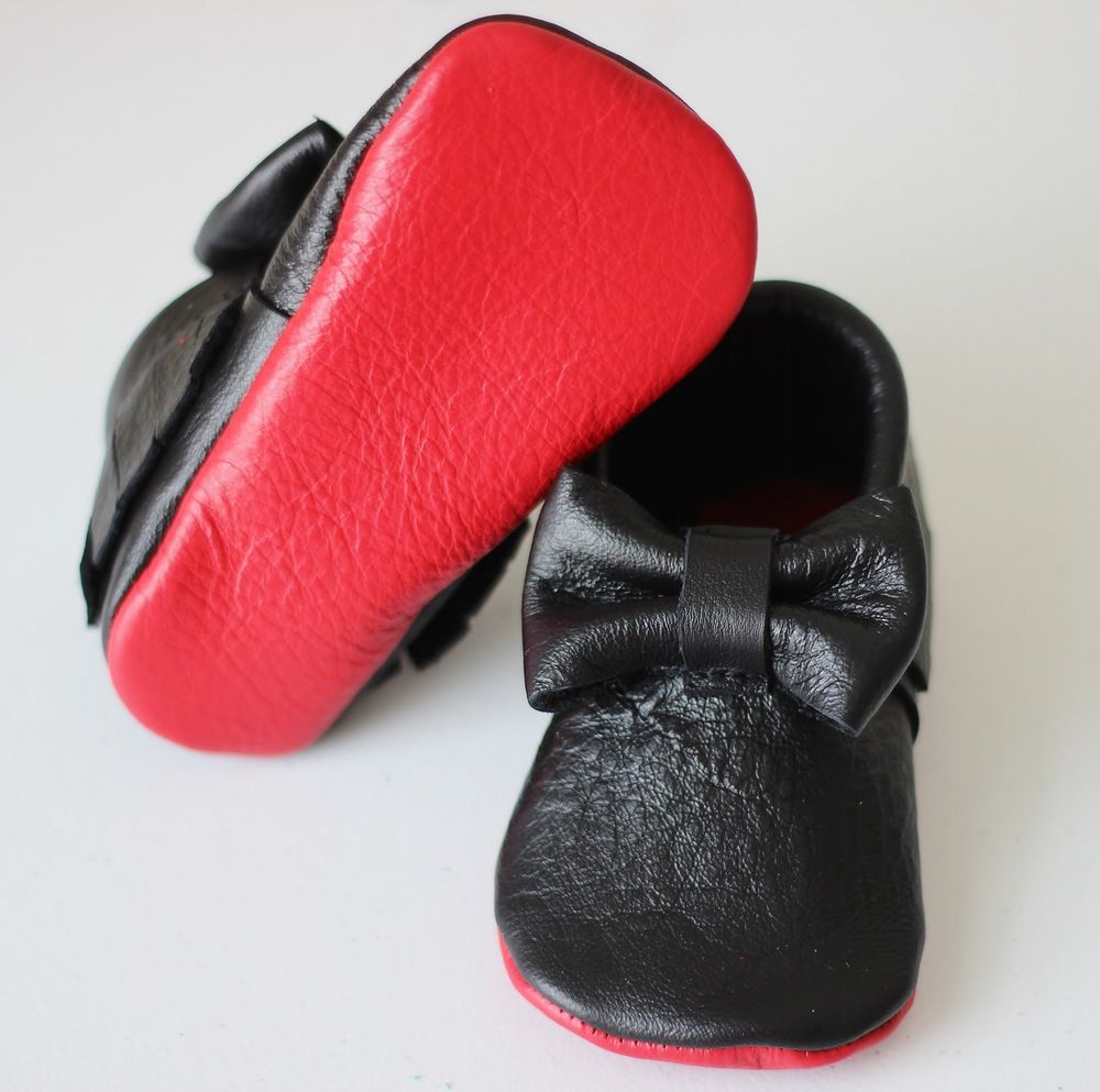 48a352e4f20 Black red bottom louboutin inspired moccs baby toddler moccasins clothes  shoes baby shower ideas baby food maternity baby girl announcement  milestones ...