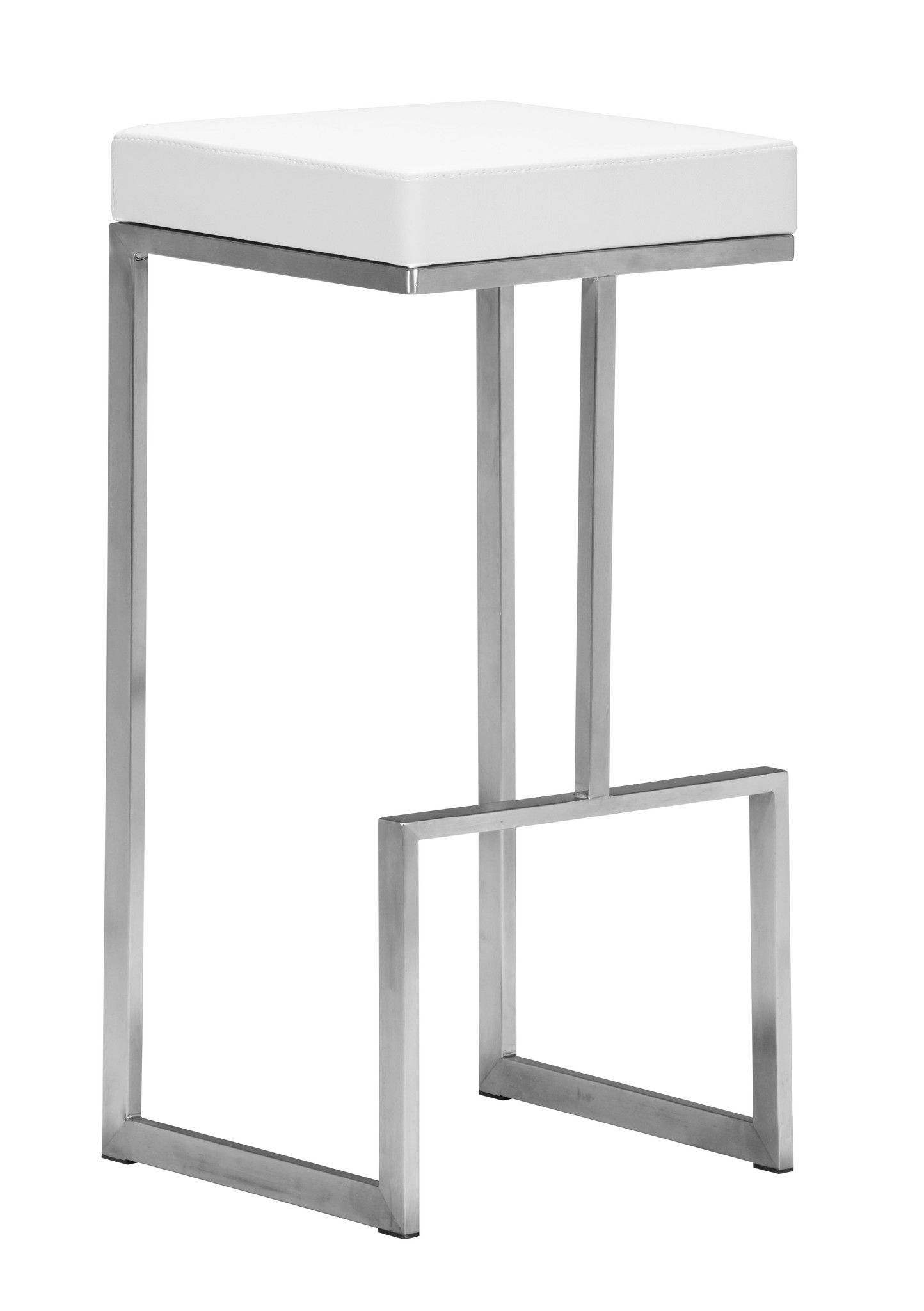 30 in bar stools. Darwen Bar Stool In White Leatherette \u0026 Brushed Stainless Steel (Set Of 30 Stools