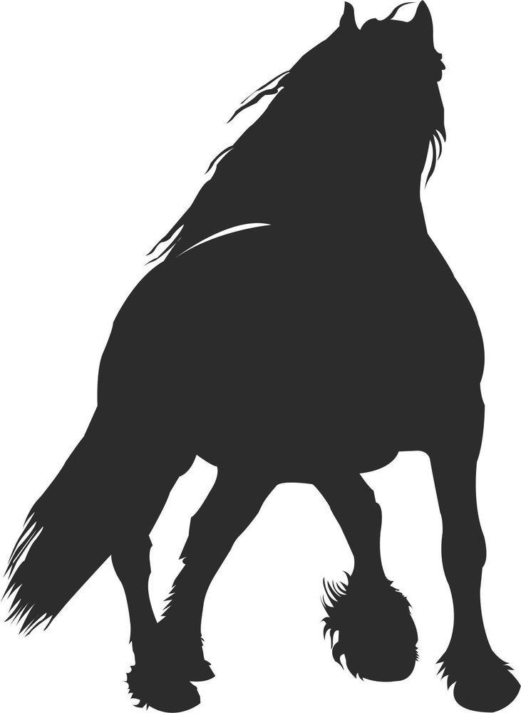 Friesian horse equestrian Vinyl Decal Sticker Free Shipping