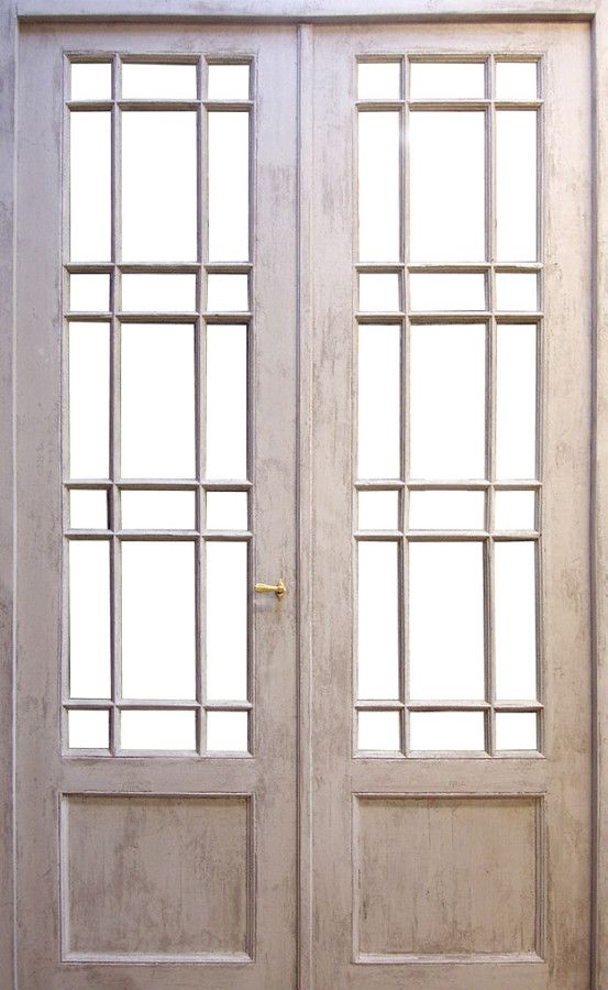 French Door Th Century Patina Paint Finish Interior Doors - Portes vitrées