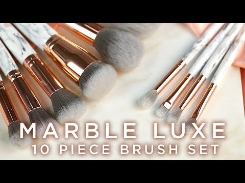 Marble Luxe 10 Piece Brush Set by BH Cosmetics #17