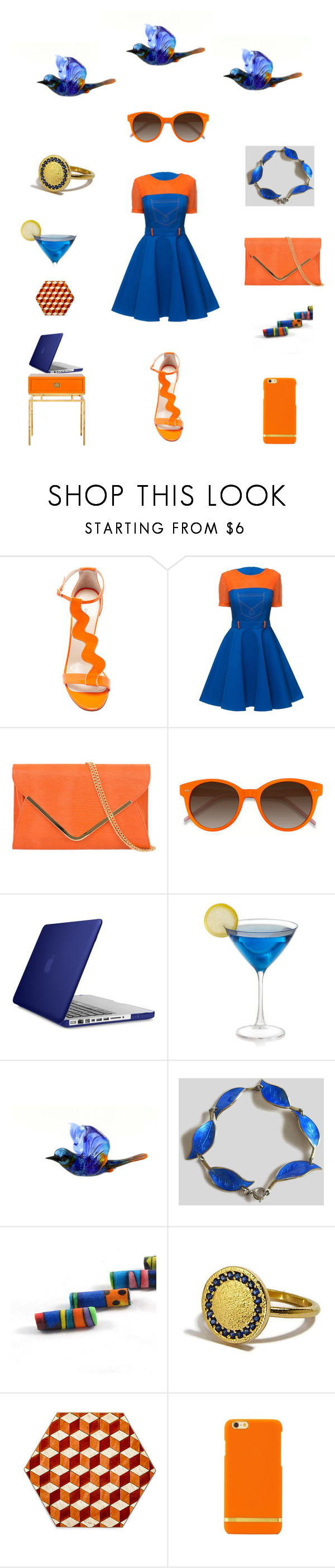 """Blue orange delight"" by einder ❤ liked on Polyvore featuring Camilla Elphick, EyeBuyDirect.com and Speck"