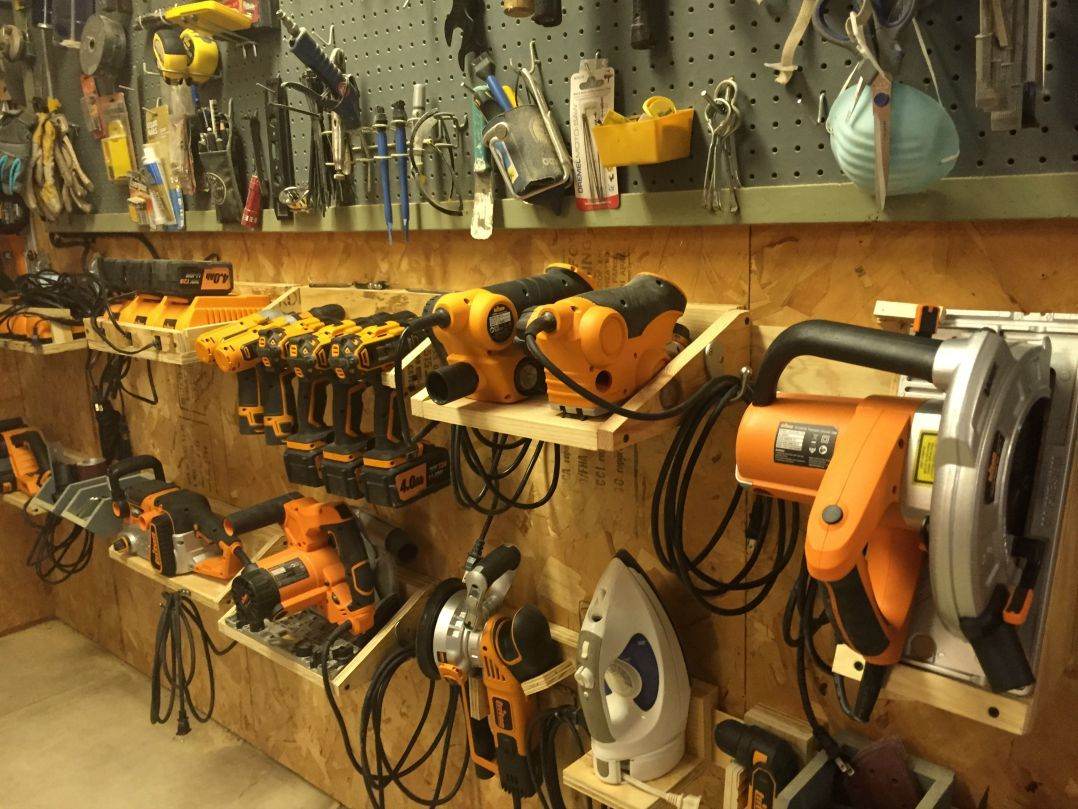 Power Tool French Cleat System Garage Tool Storage