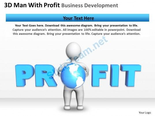 D Man With Profit Business Development Ppt Graphics Icons