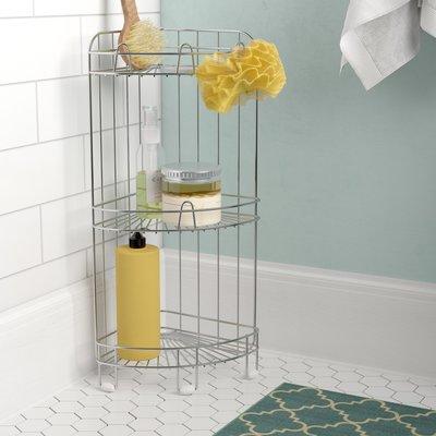 Beachcrest Home Neihoff Shower Caddy Corner Shower Seat Shower