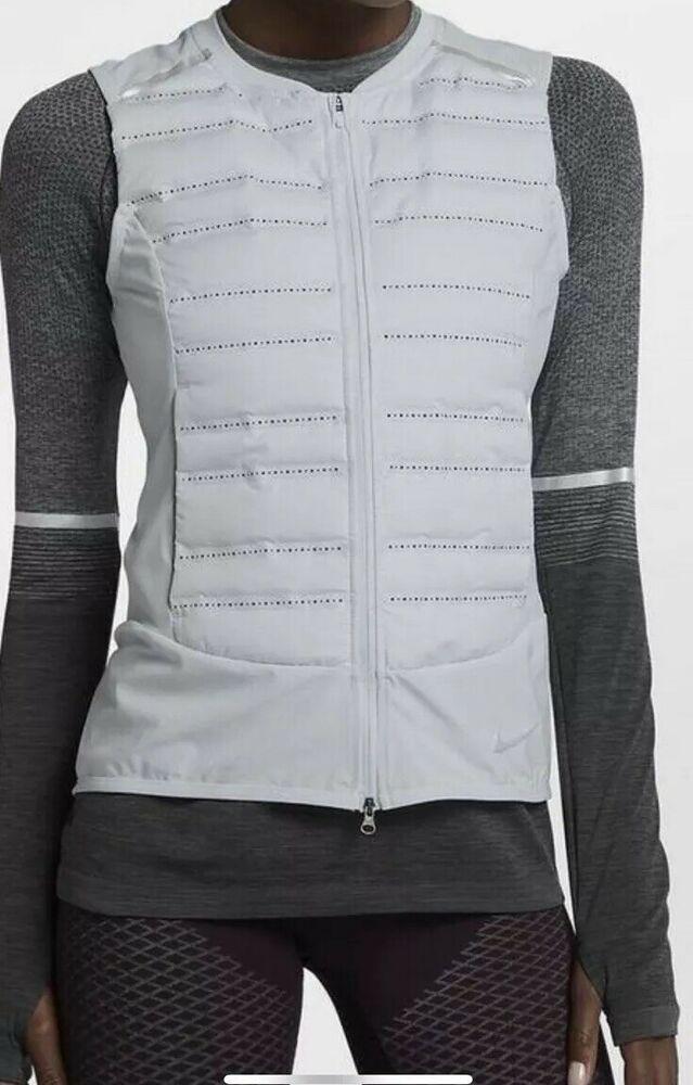 5b1de88e364c Nike Aeroloft 800 Running Gilet Vest Pure Platinum Womens Size L BNWT  856636-043  fashion  clothing  shoes  accessories  womensclothing   activewear (ebay ...