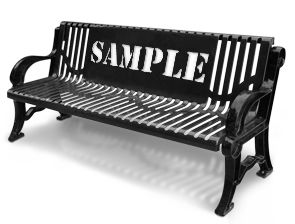 Contemporary Style Outdoor Bench With Customized Back 640 x 480