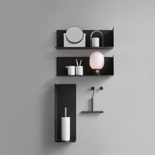 Menu Corner Wall Shelf Black Large Wiper En Jwda Lamp
