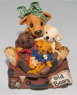 Teddy Bears- fimo clay art- Manda Theart