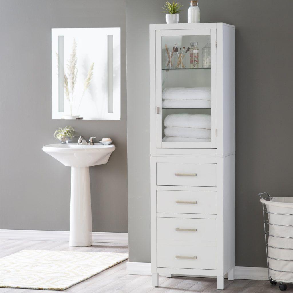 Thin Bathroom Cabinet Ikea  Tall bathroom storage, Tall bathroom