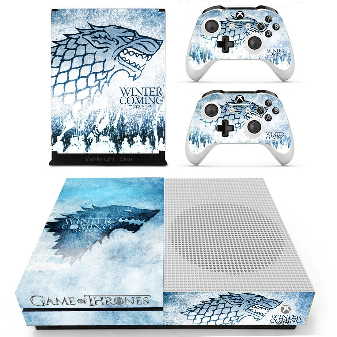 Vanknight Vinyl Decal Skin Stickers Cover for Xbox One S