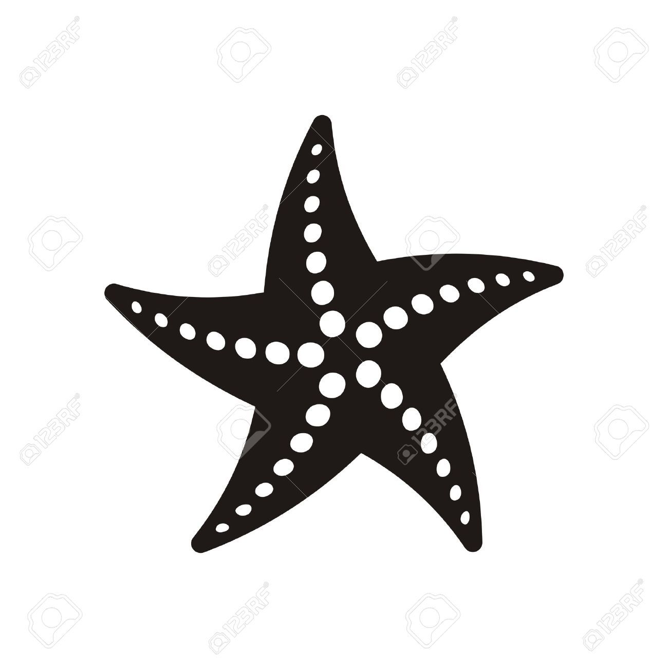 Black Vector Starfish Icon Isolated On White Background Starfish Drawing Clip Art Pictures Art