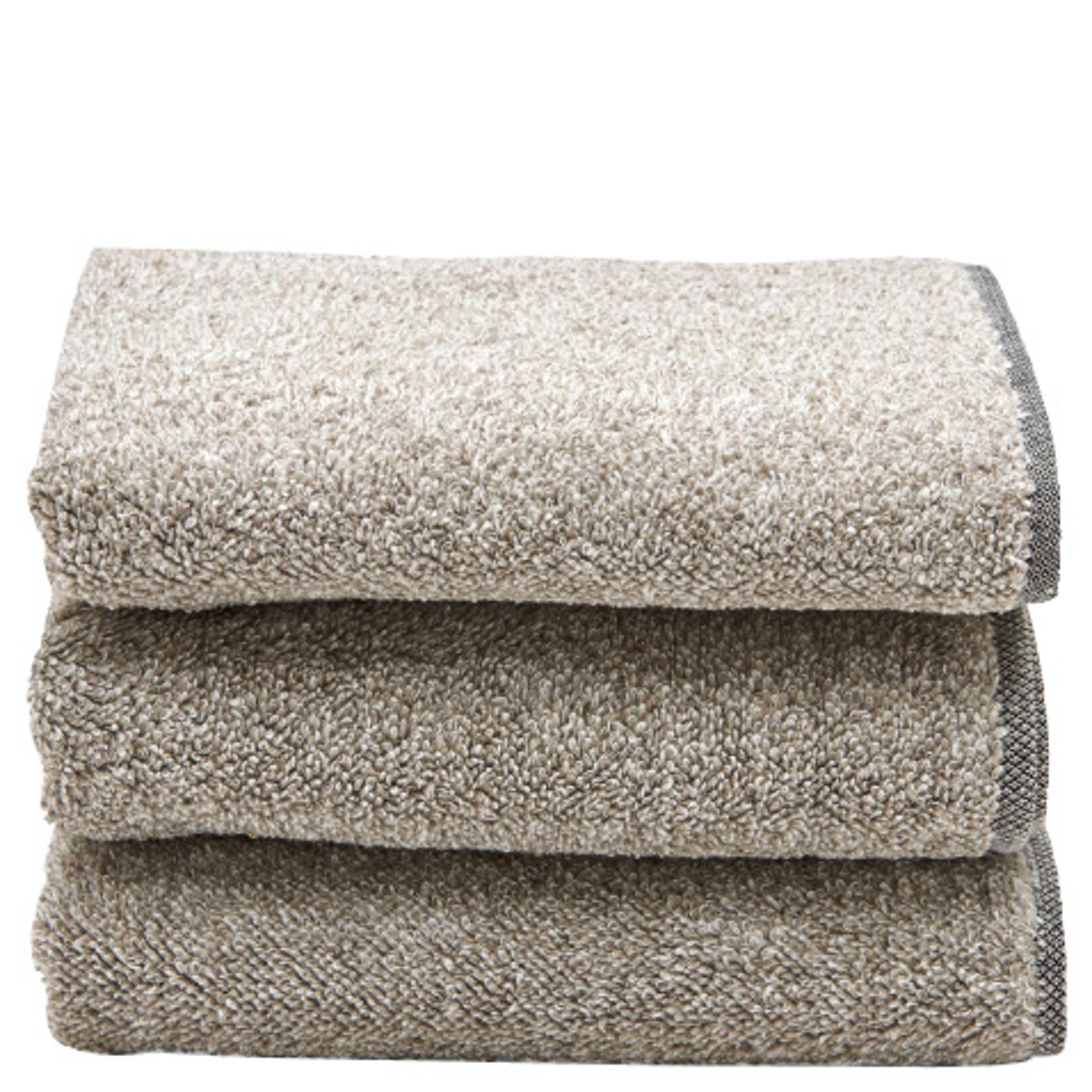 Tasha Hand Towel Black/Linen