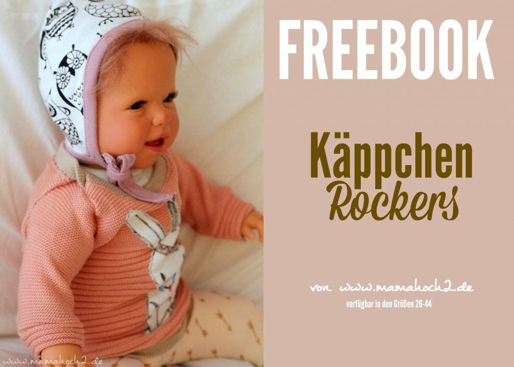 kostenfreie Nähanleitung Babymütze zum Binden: Freebook Käppchen ...