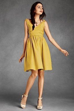 Teal and Yellow Dresses