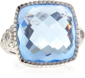Judith Ripka Blue Quartz Cushion-Cut Ring, Size 7 on shopstyle.com
