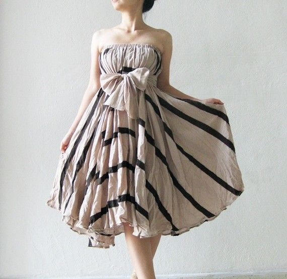 Brown Cotton Skirt/Dress