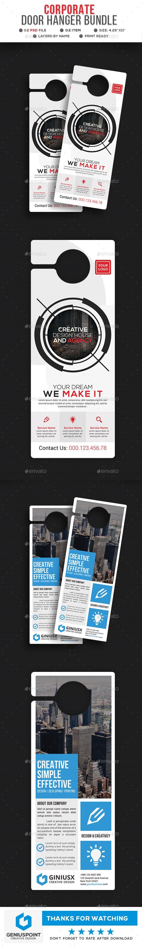pin by best graphic design on door hanger templates pinterest