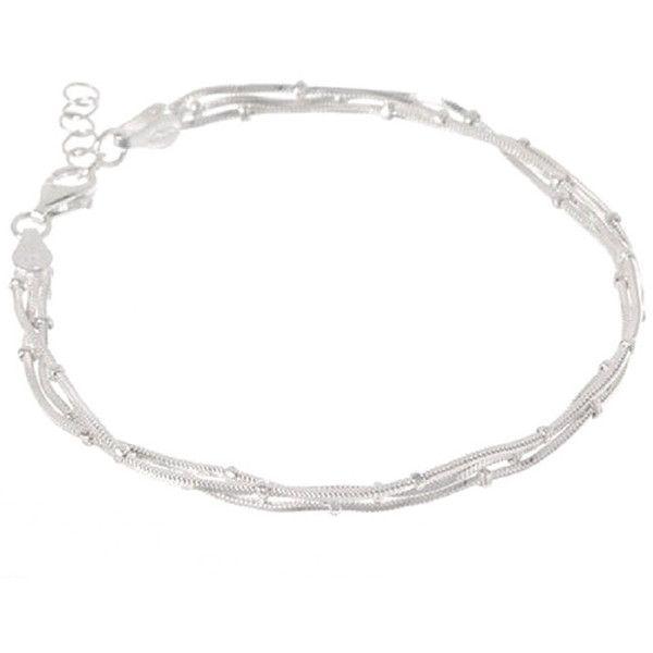 Pori Sterling Silver Multi-Strand Diamond-cut Snake and Ball Bracelet... ($23) ❤ liked on Polyvore featuring jewelry, bracelets, silver, diamond bangle, ball jewelry, sterling silver snake jewelry, sterling silver jewellery and sterling silver diamond jewelry