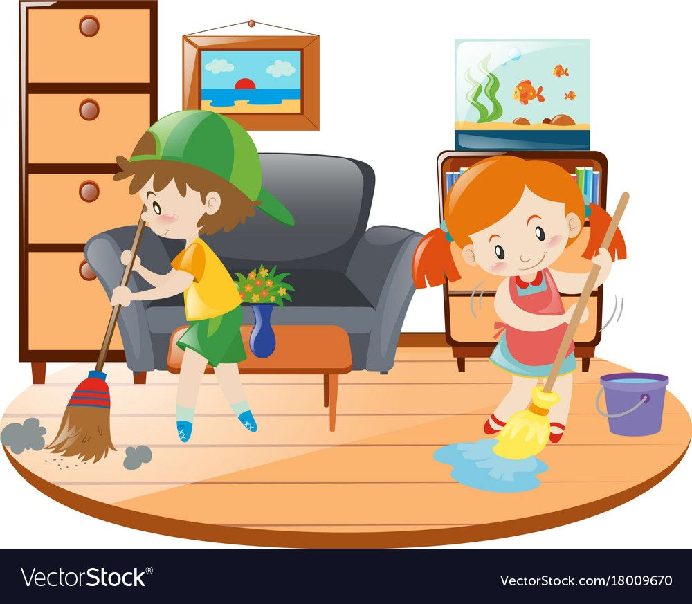 Boy And Girl Cleaning Living Room Illustration Download A Free Preview Or High Quality Adobe Illustrato Cleaning Kids Room Kids Toy Organization Kids Cleaning