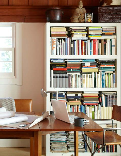 why is this bookcase so attractive? what is it about the organisation that stops it being chaotic?