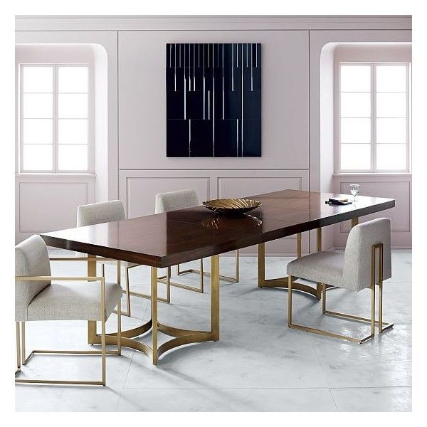 West Elm Uptown Expandable Dining Table (\u20ac3210) ❤ liked on