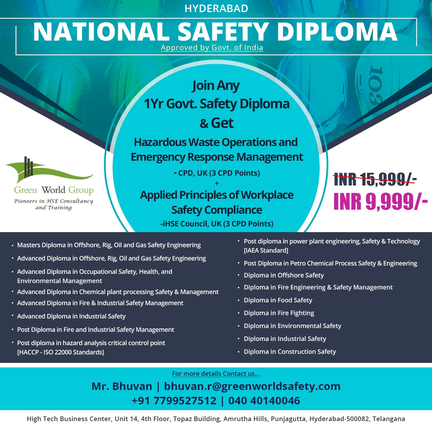 Looking For A National Safety Diploma In Hyderabad Green World