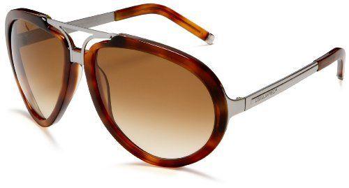 13ac3de030df DSQUARED2 DQ31 Aviator Sunglasses,Light Havana Frame/Gradient Brown Lens,one  size DSQUARED2. $120.00. Save 70%!