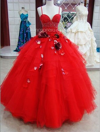 Who knew a ball gown could be this sexy? $349. Quinceanera Galleria - give us your measurements and we'll make your custom dress guaranteed to fit or your money back. www.quinceaneragalleria.com
