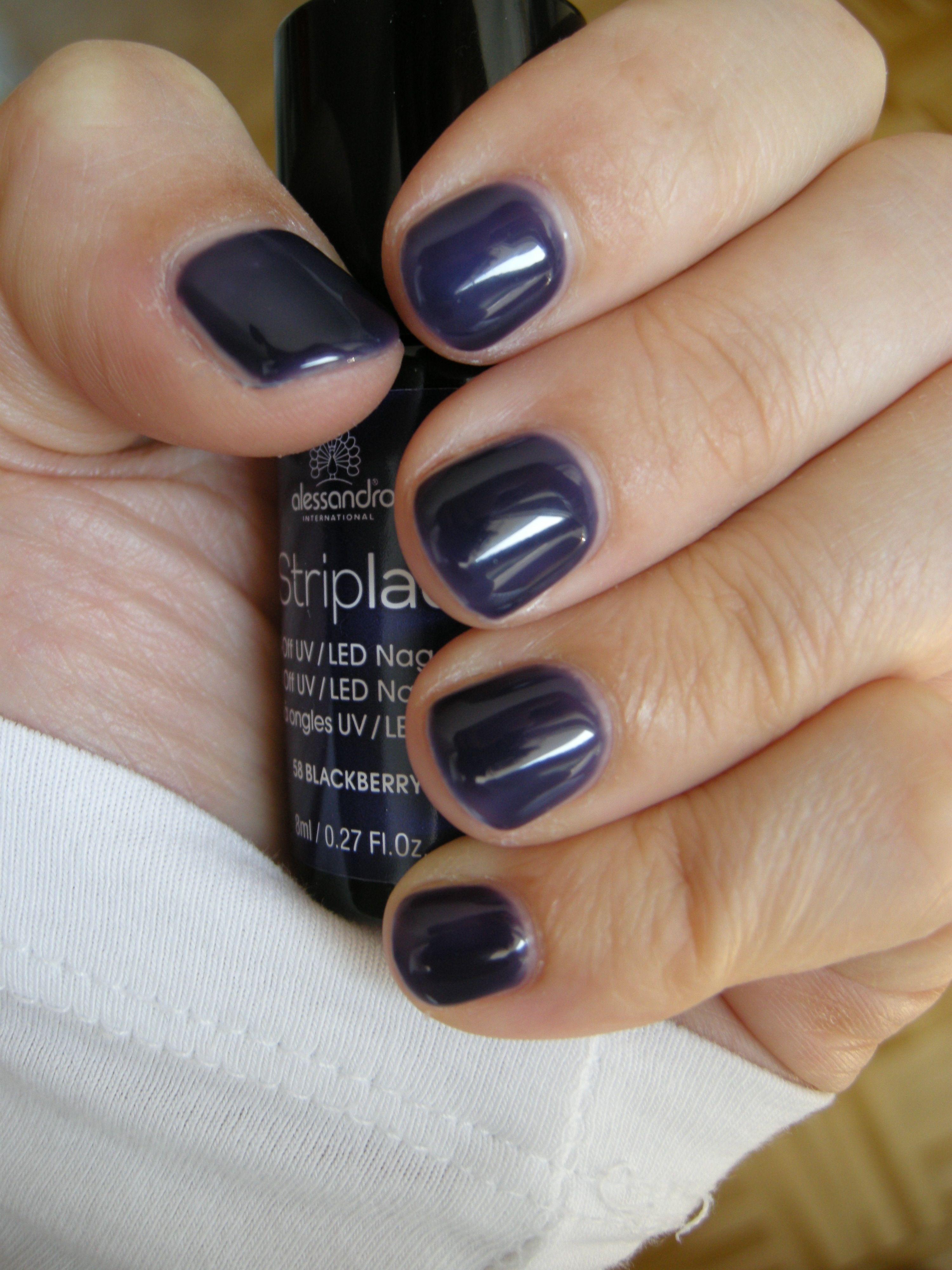Striplac 58 Blackberry (2 coats + tiny stripe of CC Medium on the sides) #striplac