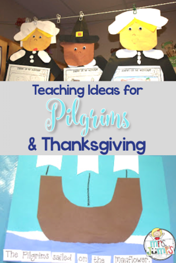 Great ideas to help teach about pilgrims and the First Thanksgiving. The lessons are perfect for Ki