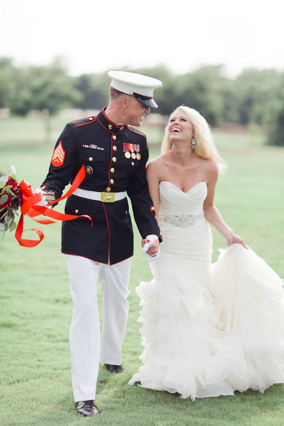Cheap wedding dresses for military brides  Patriotic Wedding Military bride  Wedding Things  Pinterest