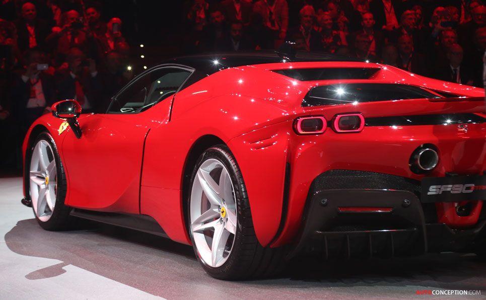 New Hybrid Powered Ferrari Sf90 Stradale Unveiled Autoconception