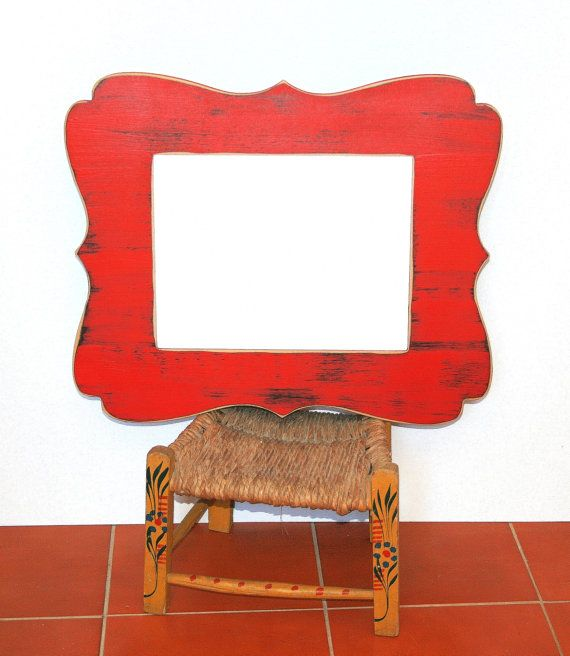 Whimsical Chunky Picture Frame 24x36 Curvy Shabby distressed frame ...