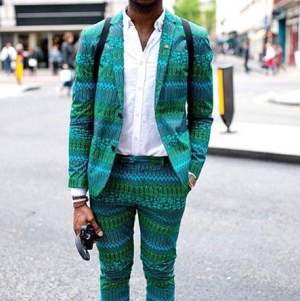 Patterned suit