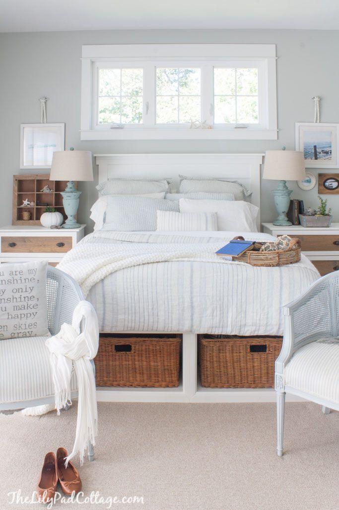Master Bedroom Bedding The Lilypad Cottage Cottage Style Bedrooms Coastal Master Bedroom Coastal Cottage Bedroom