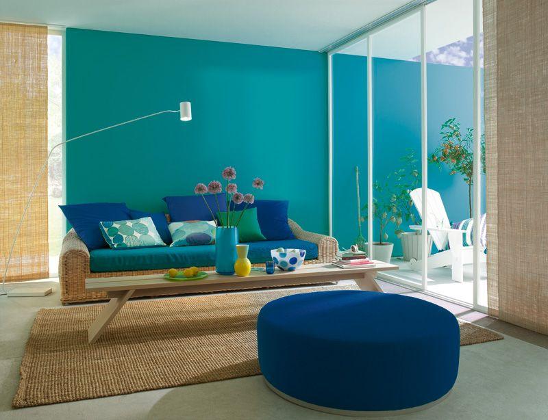 Trendfarbe Lagune Schoner Wohnen Farbe Schoner Wohnen Wanddeko Wohnzimmer