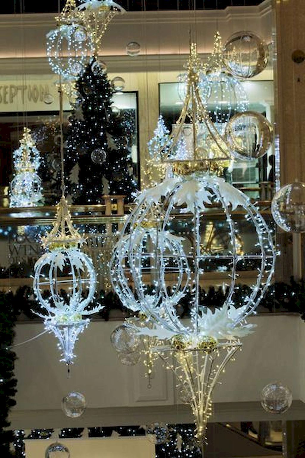 50 Christmas Village Window Display Ideas Hanging