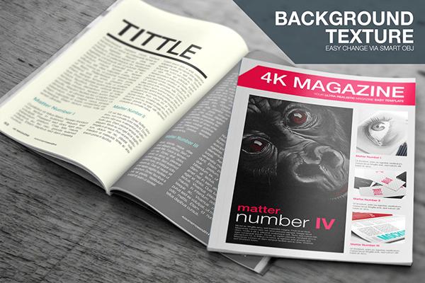 Free Psd Mockup 4k Magazine On Behance Magazine Mockup Psd Magazine Mockup Free Magazine Cover Template