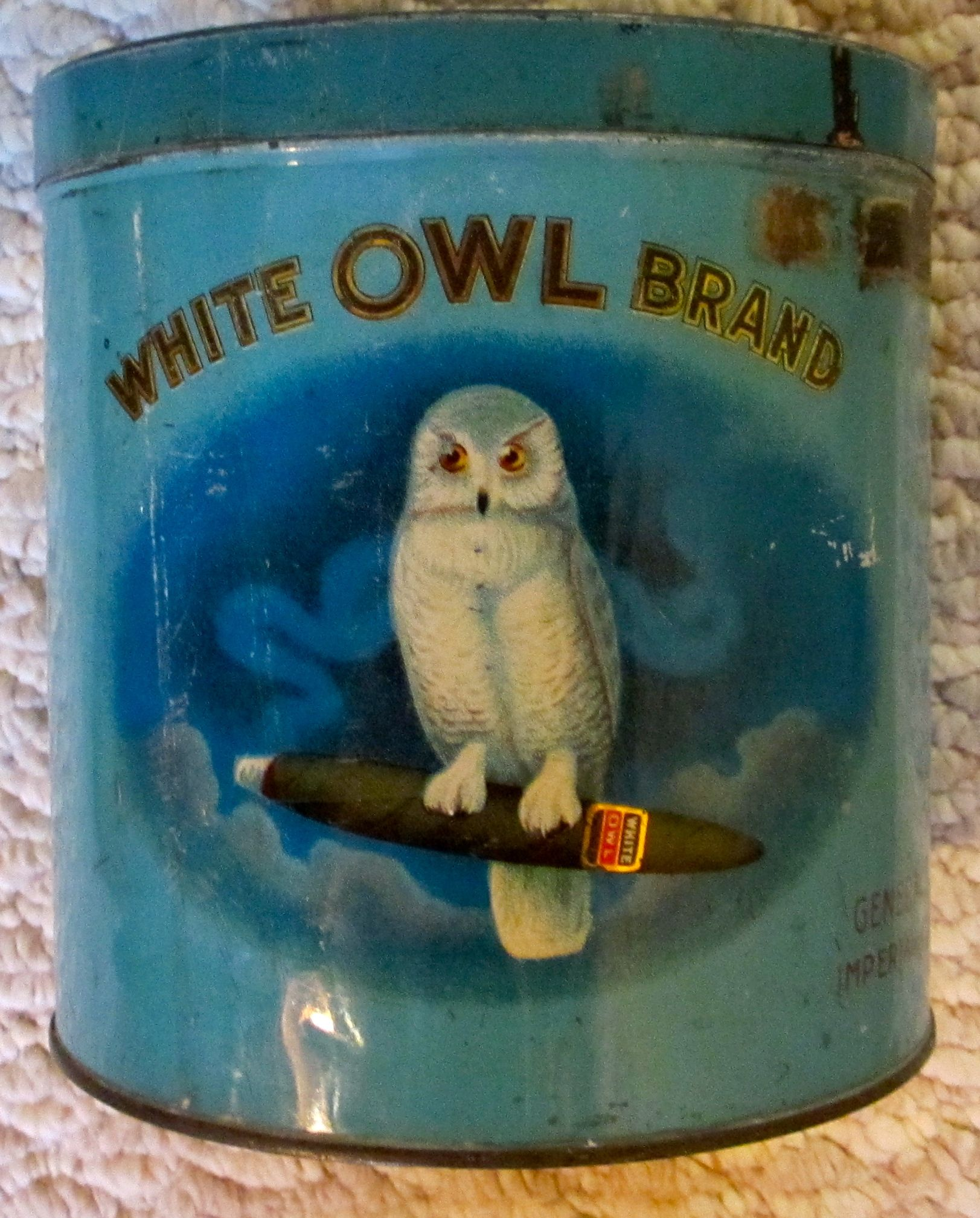 White Owl cigar tin (blue version) | old dummy | Tin