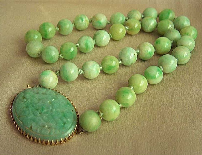 Fabulous vintage 14kt jadeite jade necklace by walter lampl jade fabulous vintage 14kt jadeite jade necklace by walter lampl aloadofball Images