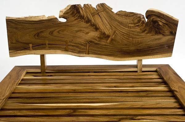 Wood Headboard Design natural wood furniture, rustic furnishings, rustic coffee table