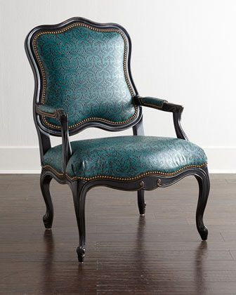 Cantrell Leather Chair by Massoud at Horchow. ($1799) - Over budget ...