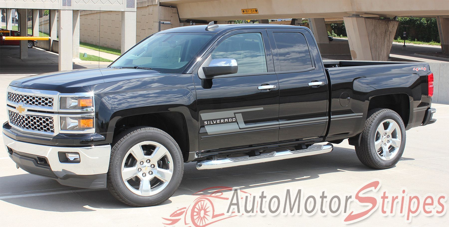 20142018 Chevy Silverado Shadow Lower Truck Door Vinyl