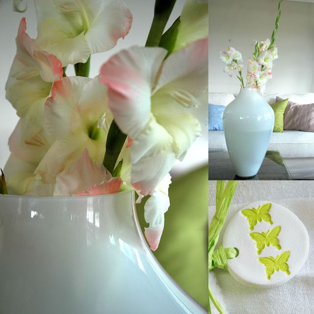 Spring colors green and pink. Easter decoration  http://anettewillemine.blogspot.no/