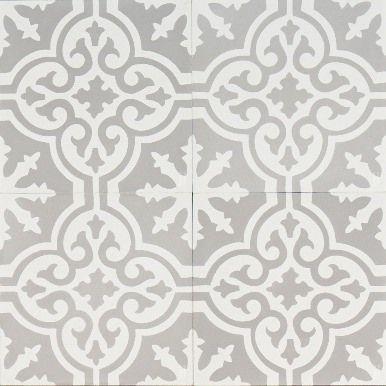 Grey Moroccan Bazaar Bathroom Floor Tiles Encaustic