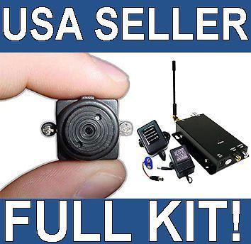 Mini Wireless Spy Nanny Micro Camera Pinhole System