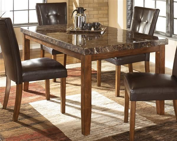 Lacey Medium Brown Wood Rectangle Dining Table